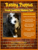 Raising Puppies Mastery Task - Project Based Learning (PBL) with Math