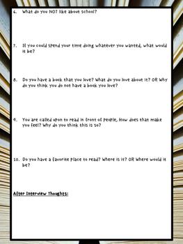 Reading Interest Interview