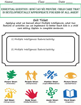 Raising a Child: 2-4 Week Psychology Unit w/ Summative Project