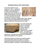 Raising the Stones of the Great Pyramid