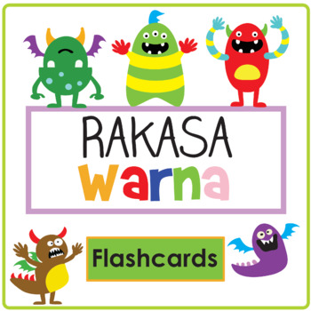Rakasa Warna - Indonesian Colour Flashcards
