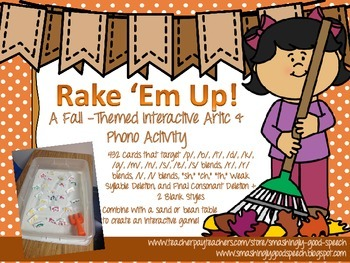 Rake 'Em Up! Interactive Fall Themed Articulation & Phonol