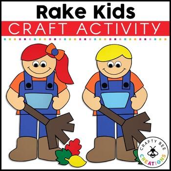 Rake Kids Cut and Paste