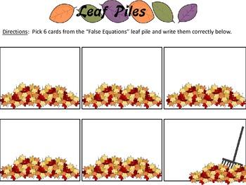 Raking It Up: True and False Equations