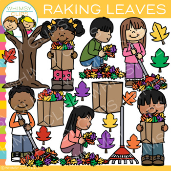 Raking Leaves Clip Art