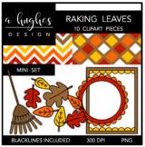Raking Leaves Mini Clipart Set {A Hughes Design}