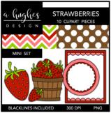 Strawberries Mini Clipart Bundle {A Hughes Design}