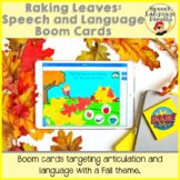 Raking Leaves: Speech and Language Boom Cards for Distance