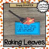 Raking Leaves Writing Cut and Paste Craftivity