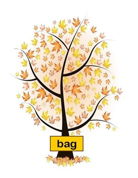 Raking Rhymes Fall Phonics Game Activity Word Families Short a
