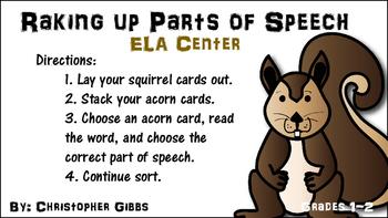 Raking Up Parts of Speech ELA Center
