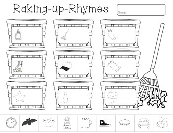 Raking Up Rhymes (Fall Rhyming Activity)