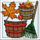 Raking the Leaves Clip Art Set - Chirp Graphics