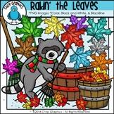Raking the Leaves Clip Art Set - Chirp Graphics