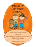 Raking up Nonsense Words -- Fall Theme