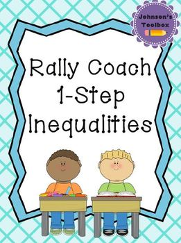 Rally Coach - 1 Step Inequalities and Number Line Shading