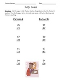 Rally Coach 2-digit subtraction with and without regrouping (Kagan Activity)