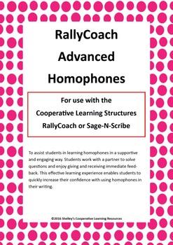 Rally Coach: Advanced Homophones