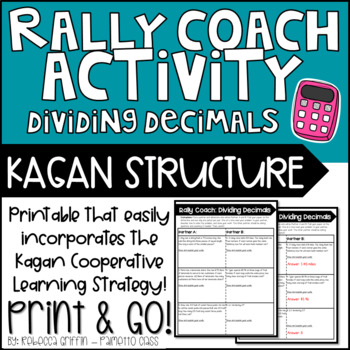Kagan Rally Coach Printable - Dividing Decimals