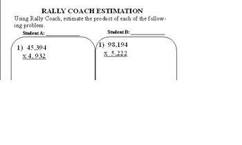 Rally Coach- Estimation