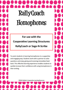 Rally Coach: Homophones