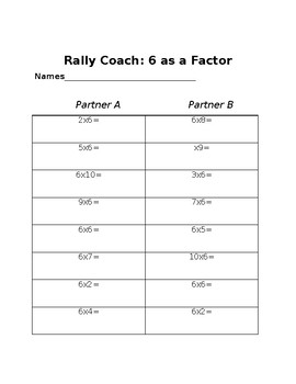 Rally Coach: Multiplication