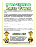 Rally Coach Topic Sentence Practice for 1st and 2nd Grade