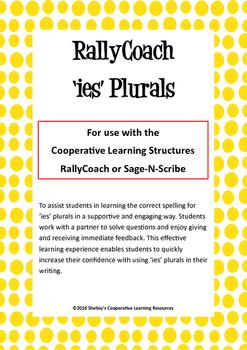 Rally Coach: 'ies' Plurals