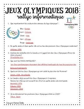 Rallye Informatique sur les Jeux Olympiques - 2018