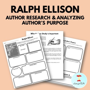 Ralph Ellison Worksheets Teaching Resources Teachers Pay
