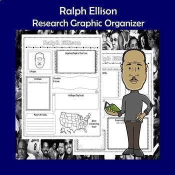 Ralph Ellison Biography Research Graphic Organizer