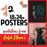 Ralph Ellison / Invisible Man POSTERS set of 2 LITERARY QU