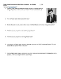Ralph Nader An Unreasonable Man Documentary Film Questions and Web Link