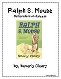 Ralph S. Mouse Extensive Chapter Quizzes - Comprehension Questions