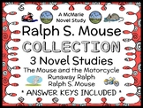 Ralph S. Mouse COLLECTION (Beverly Cleary) All 3 Novel Studies / Comprehension
