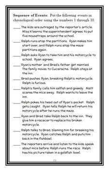 Ralph S. Mouse (Beverly Cleary) Novel Study / Comprehension  (36 pages)