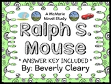 Ralph S. Mouse (Beverly Cleary) Novel Study / Comprehensio