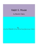 Ralph S. Mouse Unit with Literary and Grammar Activities