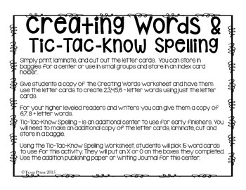 RALPH S. MOUSE: WORD WORK CENTERS