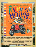 Ralph S. Mouse by Beverly Cleary ELA Novel Reading Study Guide