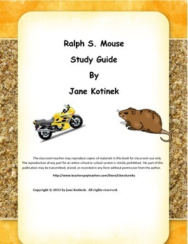 Ralph S. Mouse by Beverly Cleary Study Guide with Answers