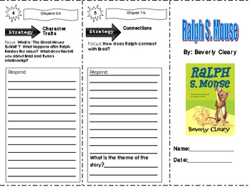 Ralph S. Mouse by Beverly Cleary ~ Trifold