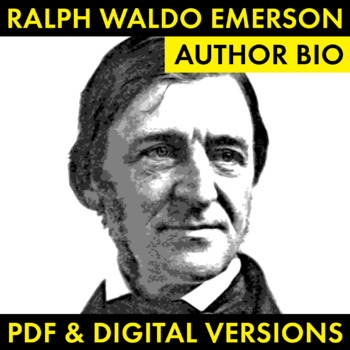 Ralph Waldo Emerson Author Study Worksheet, Easy Biography Activity, CCSS