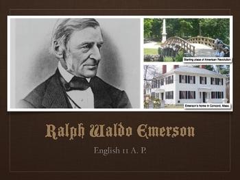 Ralph Waldo Emerson Biographical Slides
