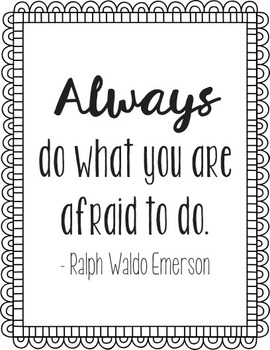 Ralph Waldo Emerson Courage Quote Poster