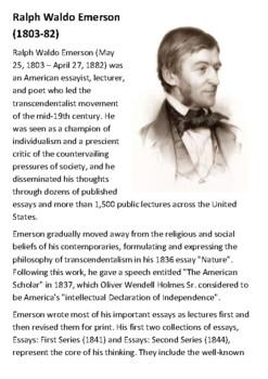 Ralph Waldo Emerson Handout