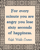 Ralph Waldo Emerson Inspirational Quote Poster, Library Art