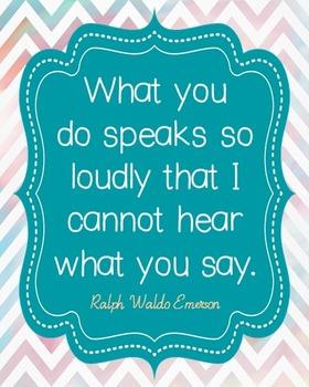 Ralph Waldo Emerson Integrity Quote Poster