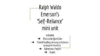 Ralph Waldo Emerson Mini Unit: Self-Reliance