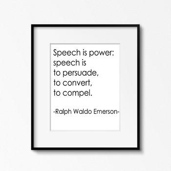 Ralph Waldo Emerson Quote - Printable Poster 8x10